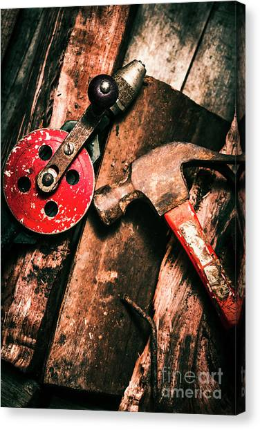 Tools Canvas Print - Close Up Of Old Tools by Jorgo Photography - Wall Art Gallery