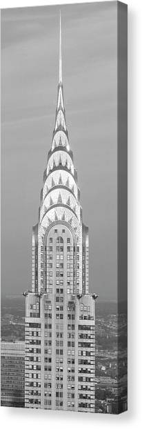 Chrysler Building Canvas Print - Close Up Of The Chrysler Building At Sunset. It Is The View From 42nd Street And 5th Avenue. by Panoramic Images