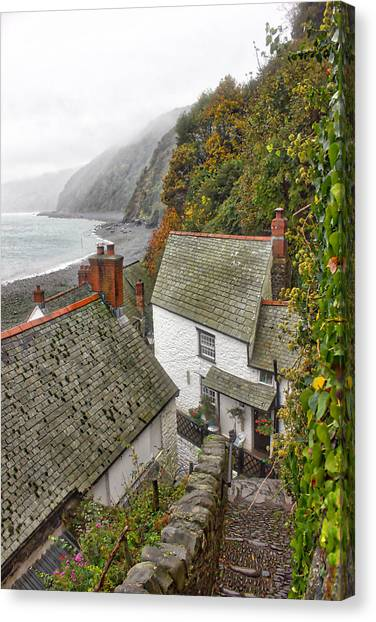 Clovelly Coastline Canvas Print