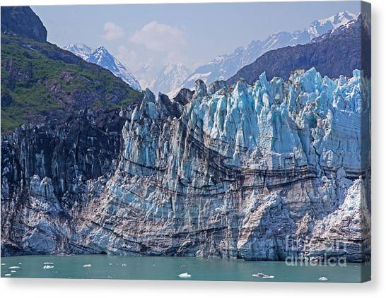 Margerie Glacier Canvas Print - Closer View Of Margerie Glacier by Robert Pilkington
