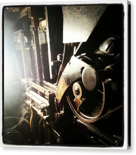 Machinery Canvas Print - Closeup Of The Linotype. #pres #art by Alex Haglund