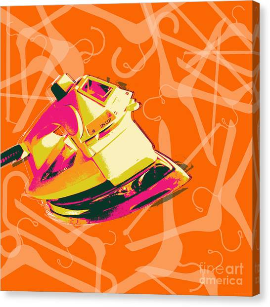 Clothes Iron Pop Art Canvas Print
