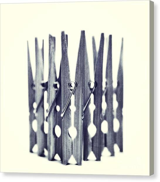 Still Life Canvas Print - Clothespin by Priska Wettstein