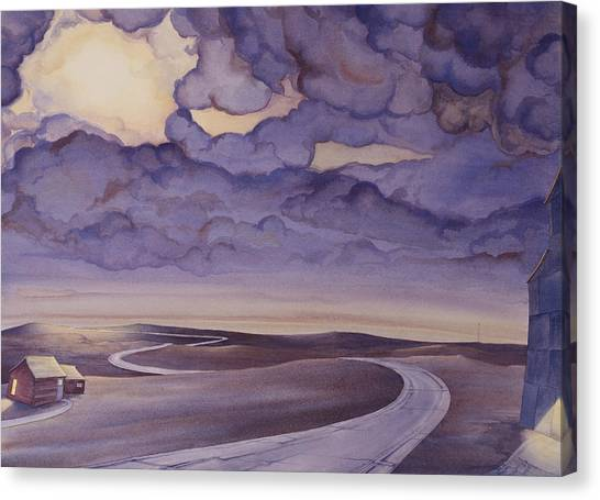 Canvas Print featuring the painting Cloud Break On The Northern Plains I by Scott Kirby