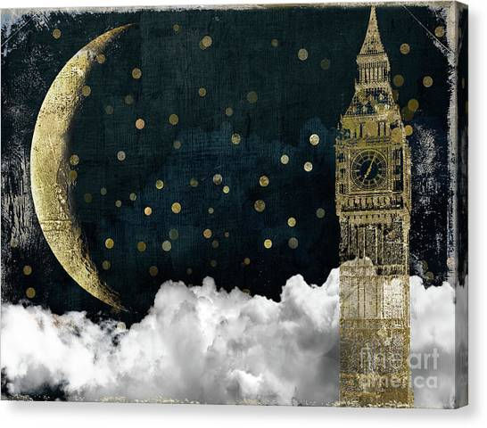 Tower Of London Canvas Print - Cloud Cities London by Mindy Sommers