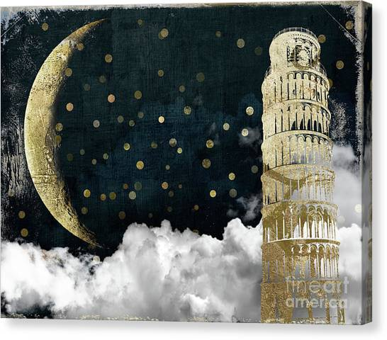 Tower Of London Canvas Print - Cloud Cities Pisa Italy by Mindy Sommers