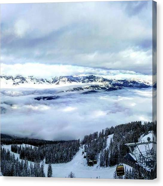 Bartender Canvas Print - Cloud Cover Over Schladming #schladming by Simon Hansen
