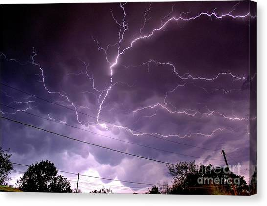 Cloud Crawler Canvas Print by Brian Kalbe