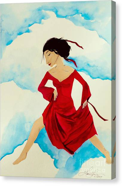 Cloud Dancing Of The Sky Warrior Canvas Print