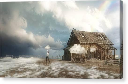 Finches Canvas Print - Cloud Farm by Cynthia Decker