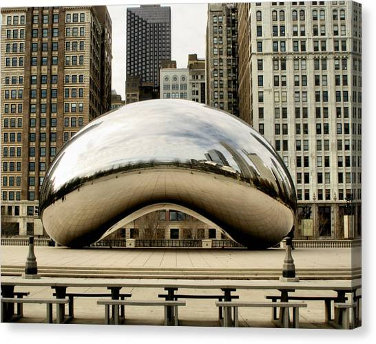 The Bean Canvas Print - Cloud Gate - 3 by Ely Arsha