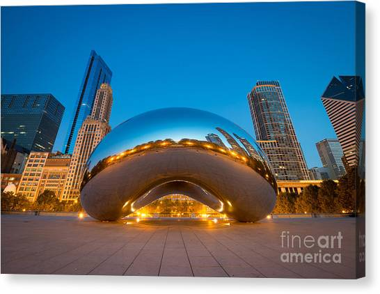 The Bean Canvas Print - Cloud Gate Chicago  by Michael Ver Sprill