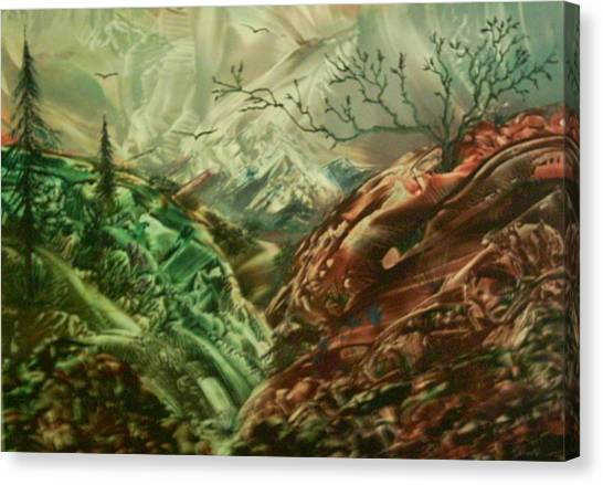 Cloud Mountain Canvas Print by John Vandebrooke
