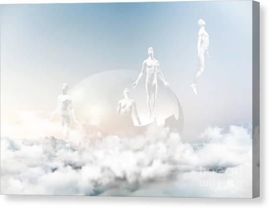 Futurism Canvas Print - Cloud Nine by Jacky Gerritsen