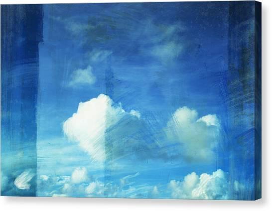 Border Wall Canvas Print - Cloud Painting by Setsiri Silapasuwanchai