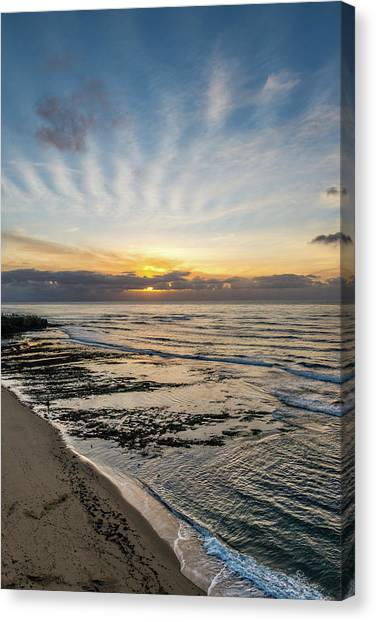 Cloud Rays Vertical Canvas Print