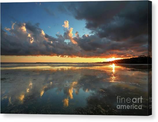 Southwest Florida Sunset Canvas Print - Cloud Reflections by Rick Mann
