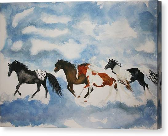 Cloud Runners Canvas Print by Michele Turney