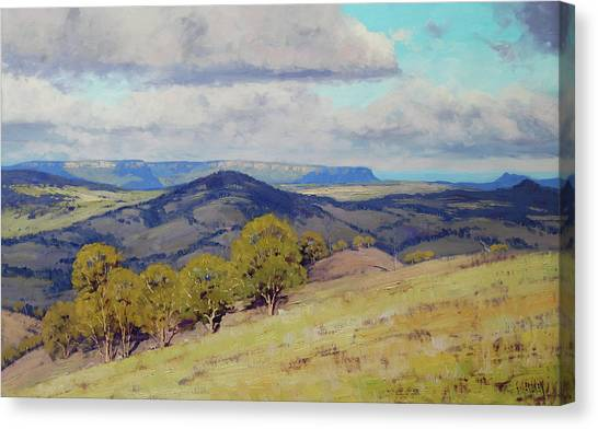 Beautiful Nature Canvas Print - Cloud Shadows Over The Kanimbla Valley by Graham Gercken