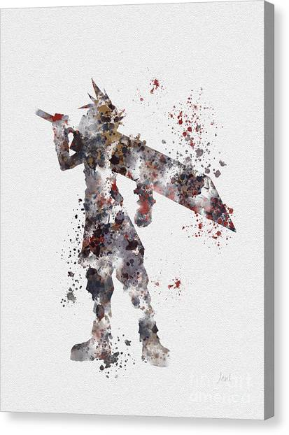 Xbox Canvas Print - Cloud Strife by Rebecca Jenkins