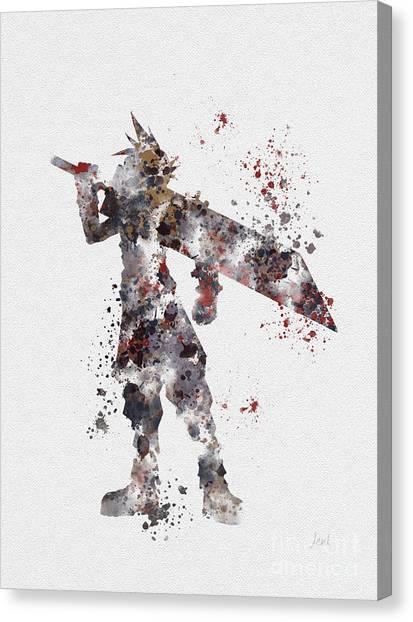 Final Fantasy Canvas Print - Cloud Strife by Rebecca Jenkins