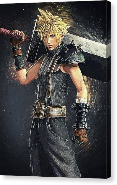Xbox Canvas Print - Cloud Strife by Taylan Soyturk