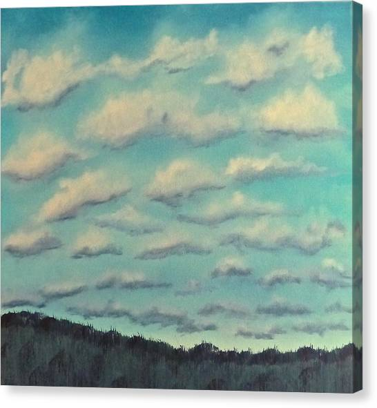 Cloud Study Cropped Image Canvas Print