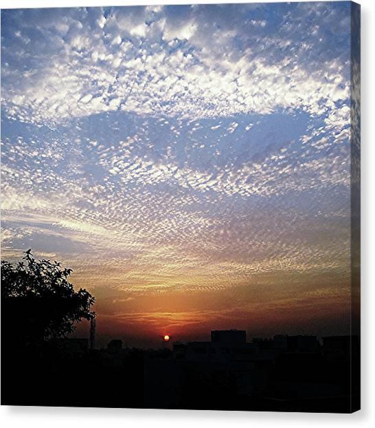 Cloud Swirl At Sunrise Canvas Print