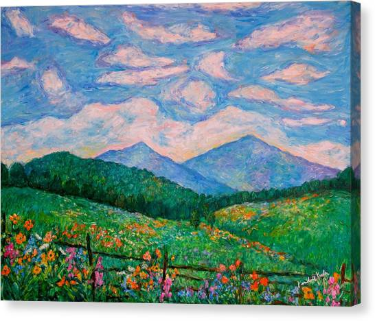 Cloud Swirl Over The Peaks Of Otter Canvas Print