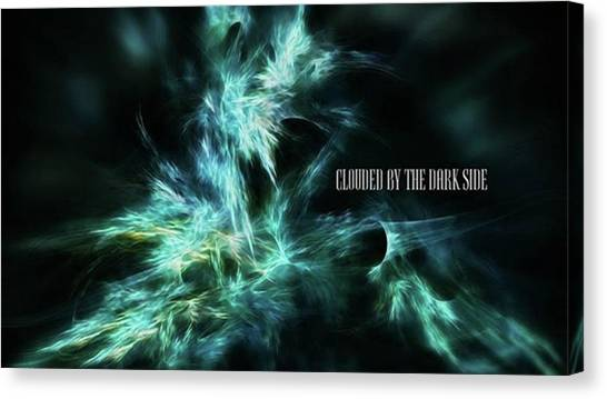 Clouded By The Dark Side #art #abstract Canvas Print by Michal Dunaj