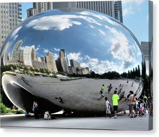 Cloudgate Canvas Print - Cloudgate In Summer by David Bearden