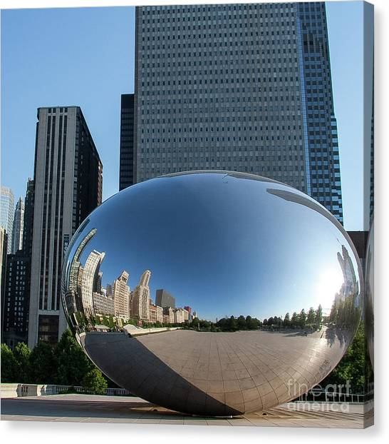 Cloudgate Reflects Canvas Print