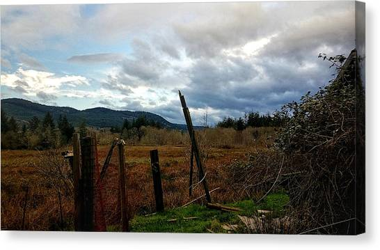 Canvas Print featuring the photograph Clouds And Field by Chriss Pagani