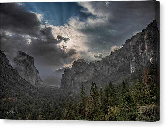 El Capitan Canvas Print - Clouds And Light by Bill Roberts