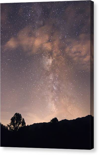 Clouds And Milky Way Canvas Print