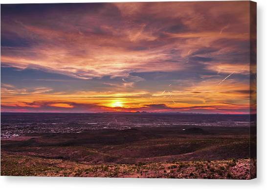Canvas Print - Clouds And Sunset by Subhadra Burugula