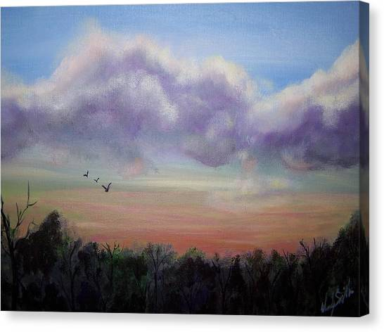 Clouds At Dusk Canvas Print by Wendy Smith