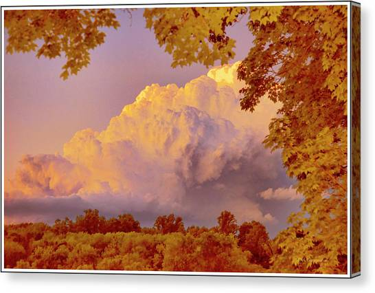 Clouds At Sunset, Southeastern Pennsylvania Canvas Print