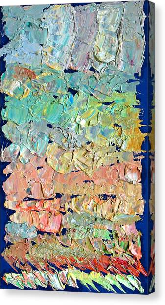 Clouds. Colorful Painter Palette. Exhausted Paint And Abstract Painting. Canvas Print by Vitali Komarov