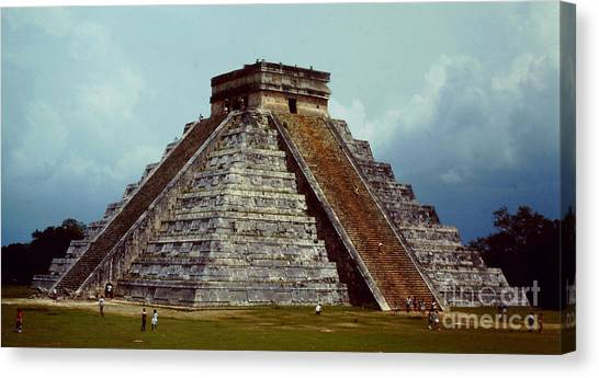 Clouds Crowd Kukulkan Canvas Print by Roy Anthony Kaelin