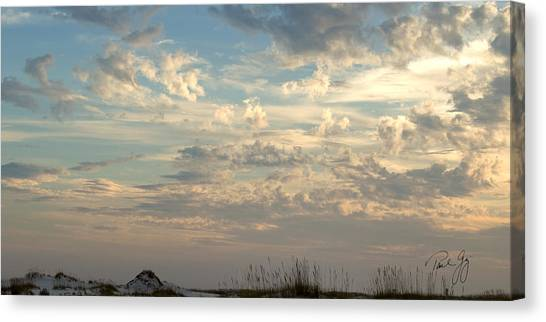 Clouds Gulf Islands National Seashore Florida Canvas Print