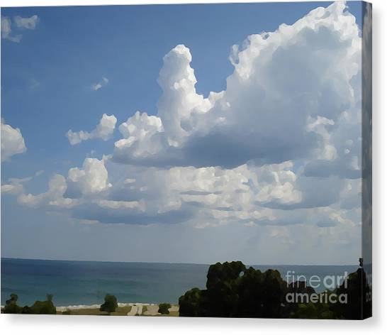 Clouds In August Canvas Print by John  Bichler