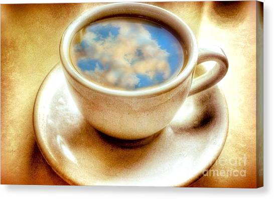 Clouds In My Coffee Canvas Print