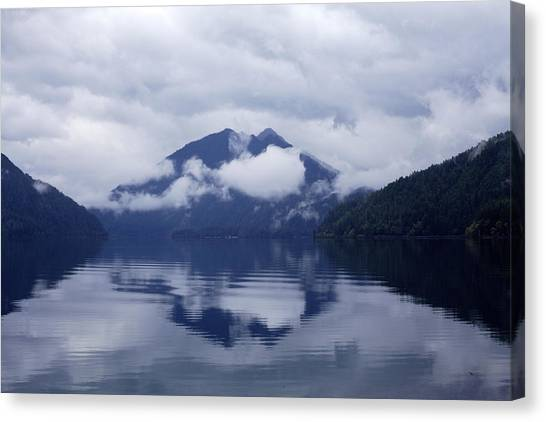 Clouds In The Lake Canvas Print