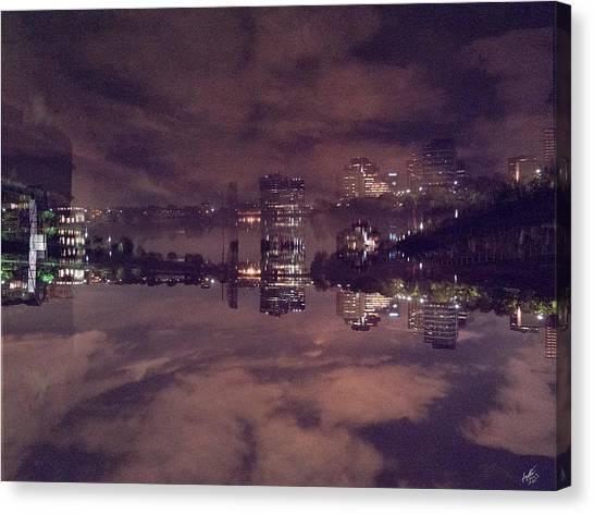 Clouds In The Passaic - Newark Nj Canvas Print