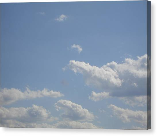 Clouds In The Sky Two Canvas Print by Daniel Henning