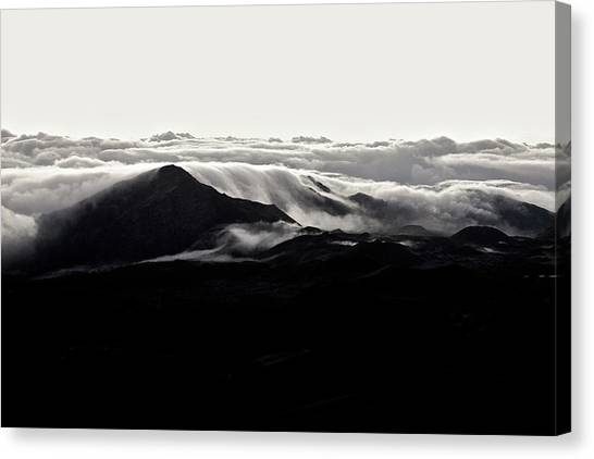 Canvas Print featuring the photograph Clouds by Lucian Capellaro