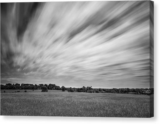 Canvas Print featuring the photograph Clouds Moving Over East Texas Field by Todd Aaron
