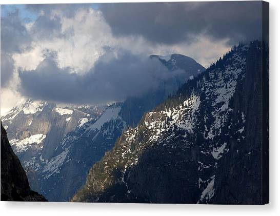 Clouds On Half Dome Canvas Print by Richard Verkuyl