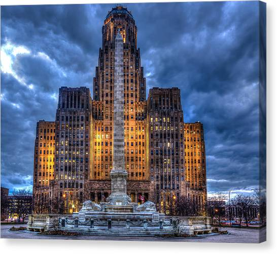 Clouds Over City Hall Canvas Print